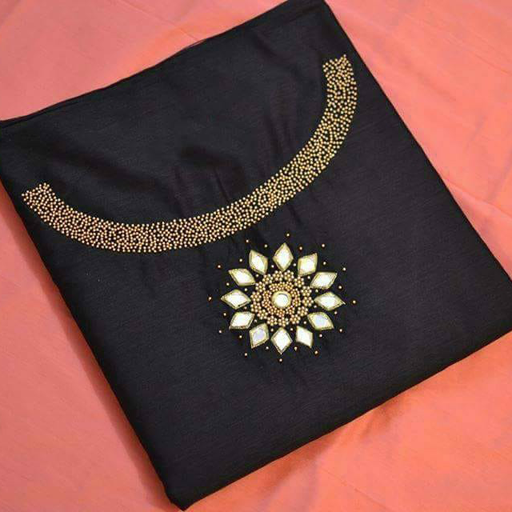Embroidery Neck Designs for Ladies