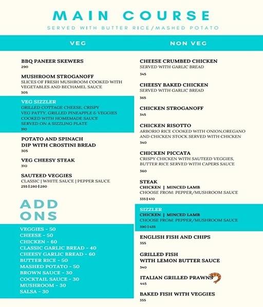 Cafe Azzure menu 1