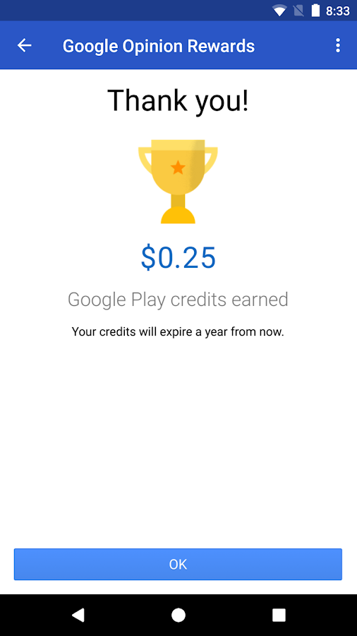 Google Opinion Rewards- screenshot