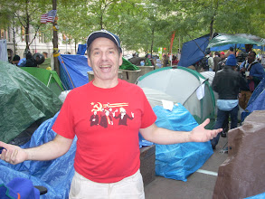 Photo: Bob Glass at Occupy Wall Street 2011; photo by Ari Armstrong.