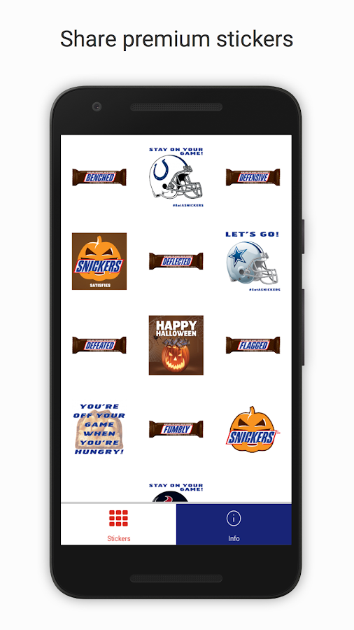 SNICKERS® Stickers- screenshot