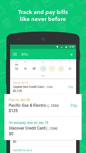 Screenshot 3 for Mint's Android app'