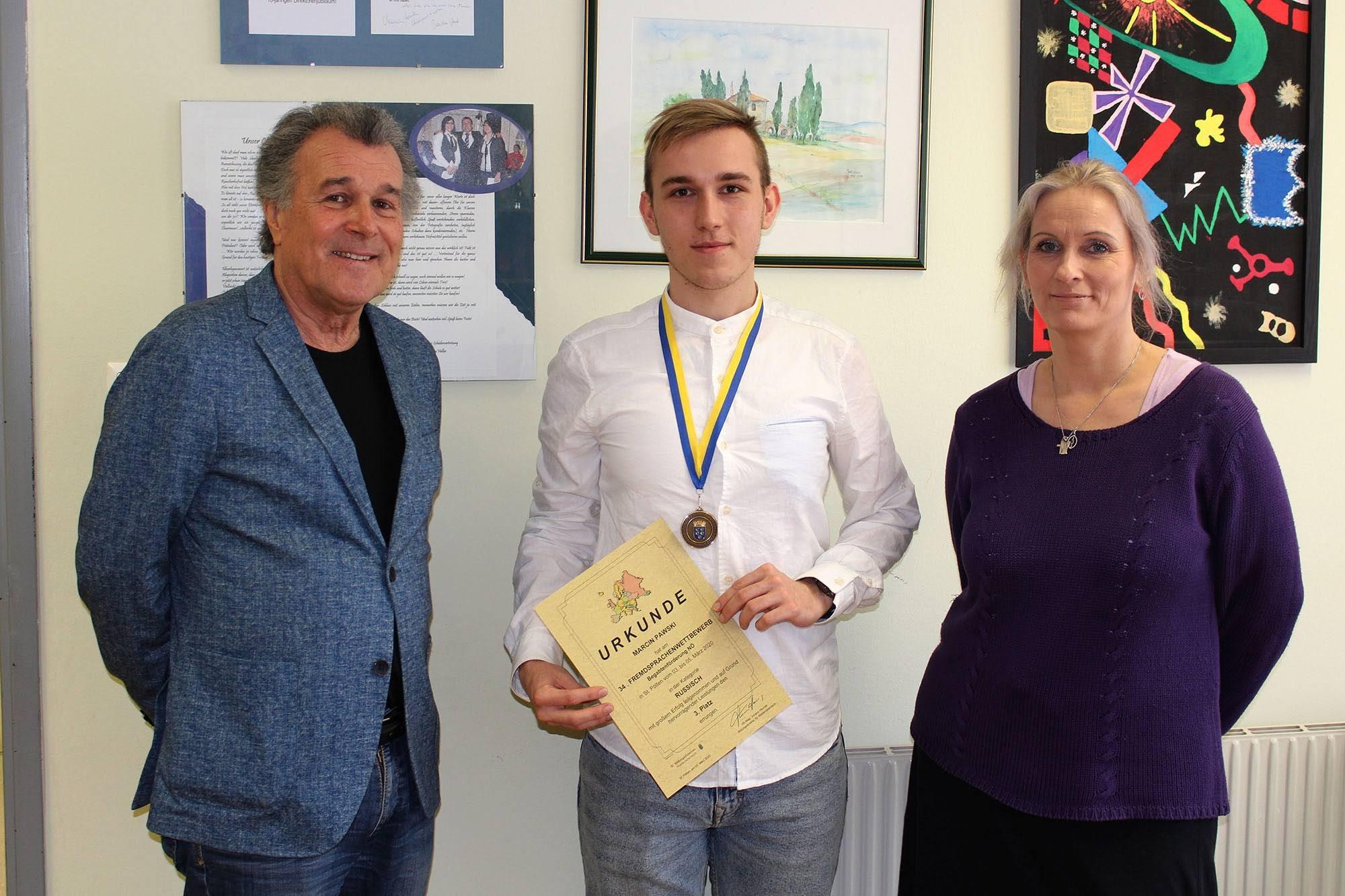 3. Platz beim Fremdsprachenwettbewerb Russisch