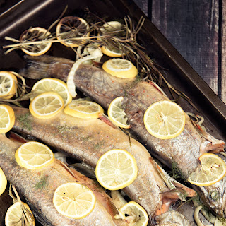 Fennel and Lemon Roasted Trout