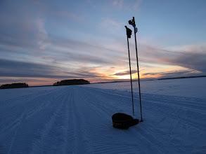 """Photo: 25.2.2010  käännös 180 astettä ja kuva selän taakse jääneestä Selkäsaaresta """"sinisen hämärän"""" alkaessa.."""