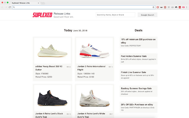 Shoe Release Calendar.Suplexed Sneaker Release Calendar