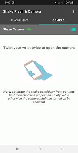 Shake Flashlight & Camera 1.0.14 screenshots 2