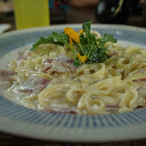 Carbonara by Darren Faith - Food & Drink Eating