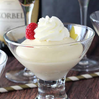 Champagne Mousse with Chambord.