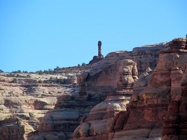 Chimney Rock on the canyon rim