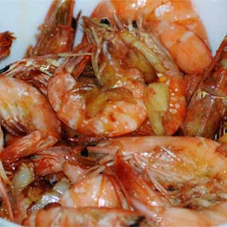 Filipino Shrimp with Sprite (Halabos na Hipon)