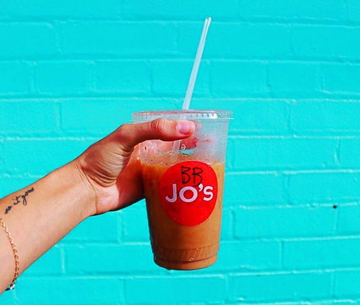 The Belgian Bomber iced coffee from Jo's.