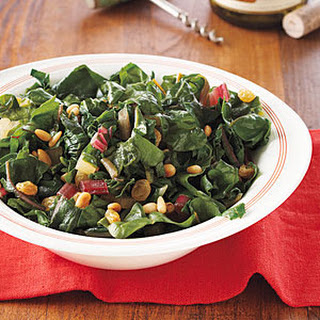 Swiss Chard with Pine Nuts and Raisins