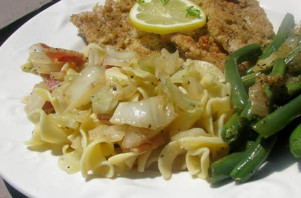 Caramelized Cabbage And Pasta Recipe