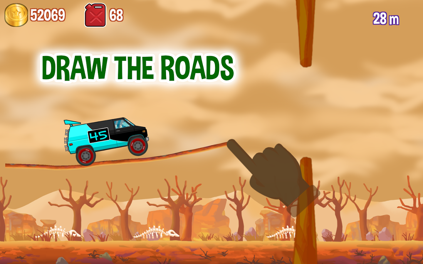 Road Draw: Climb Your Own Hills- screenshot