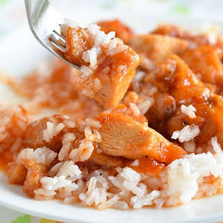 Slow Cooker Cubed Chicken Breasts.
