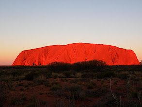 Photo: Sunset at Uluru