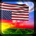 3D US Flag  (Wallpaper) icon
