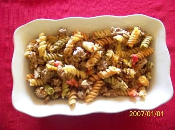 Italian Sausage Pasta With Mustard Vinaigrette