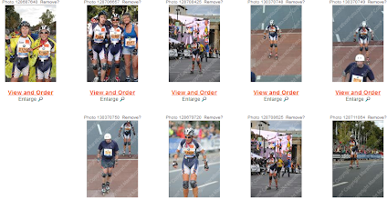 Photo: Vignettes photos de course d'Anne-Marie.