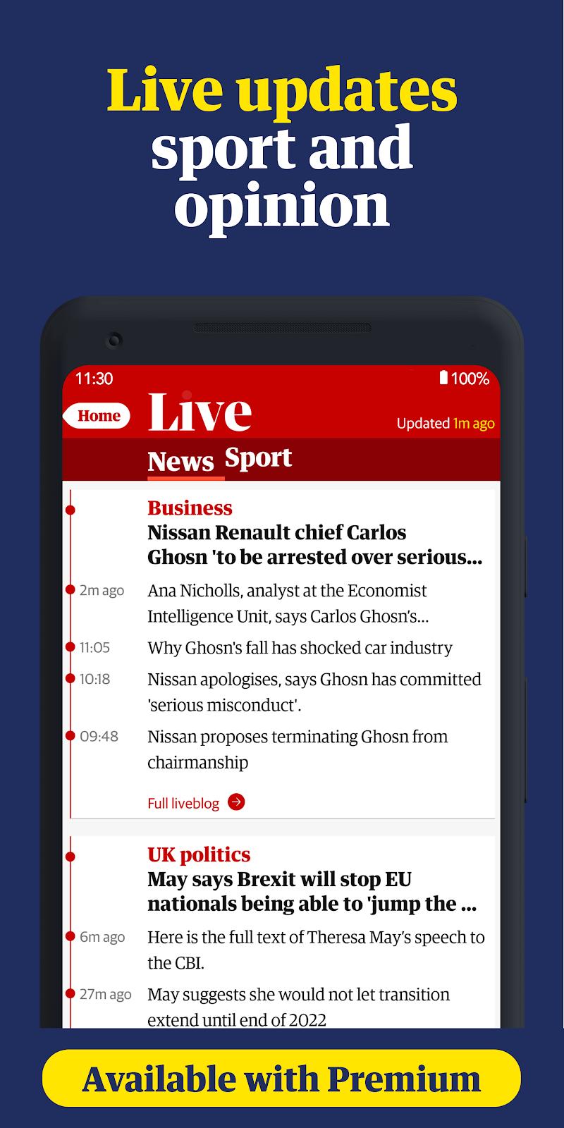 The Guardian: Top Stories, Breaking News & Opinion Screenshot 2