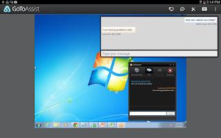 Screenshot of GoToAssist (Remote Support)