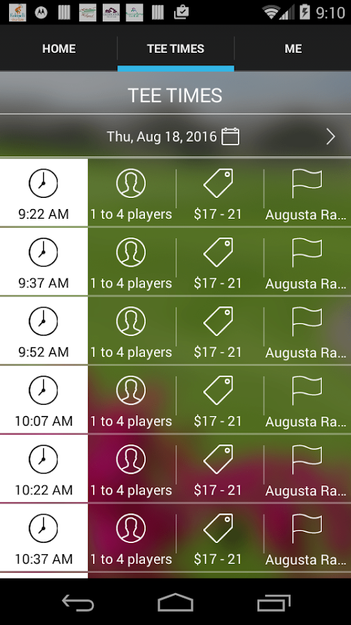 Augusta Ranch Tee Times- screenshot
