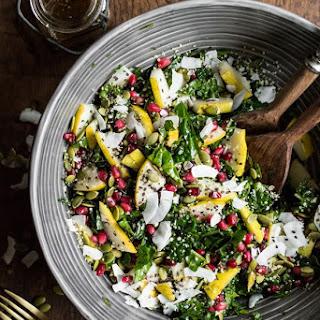 Superfood Crunch Salad with Homemade Balsamic Apple Vinaigrette.