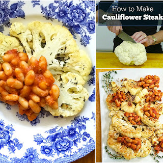 Cauliflower Steaks with White Beans