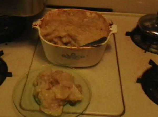 Potatoes And Turkey Casserole