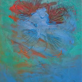 Echo by Daniel Bumstead - Painting All Painting ( abstract, blue, arcylic, painting )