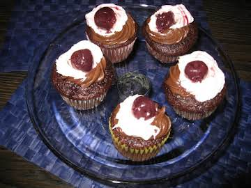 Chocolate Black Cherry Cupcakes