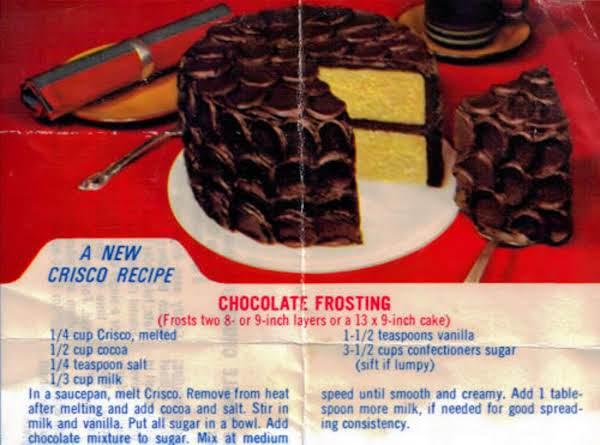 Chocolate Crisco Icing Recipe Just A Pinch Recipes