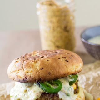 TNT Pork Burgers with Ghost Pepper-Mustard Aioli -