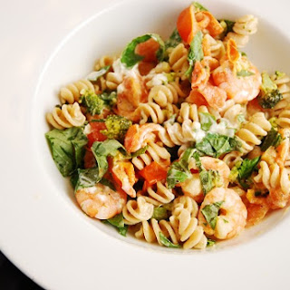 Shrimp and Goat Cheese Pasta.