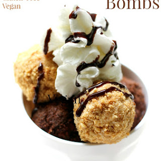"Vegan ""Fried"" Ice Cream Bombs"