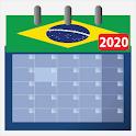 Calendario Brasil 2020 com feriados e fases da lua icon