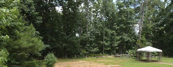 Photo: No gazebo, park beyond fence, walking trails to the lake