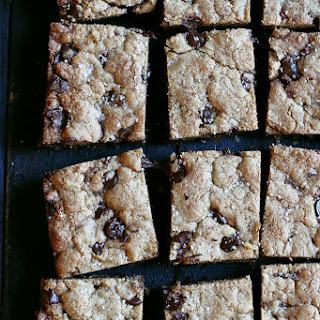 Nutella Stuffed Brown Butter Blondies with Sea Salt