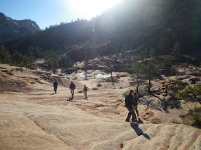 Photo: Dropping into Phantom Valley, approaching Church Mesa.