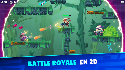 Code Triche Bullet League - BATTLE ROYALE EN 2D  APK MOD (Astuce) screenshots 1