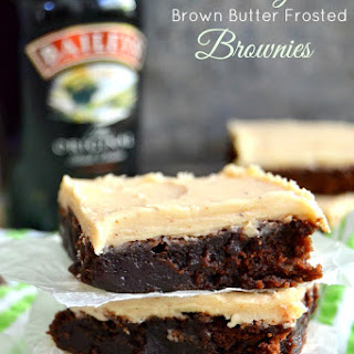 Bailey's Brown Butter Frosted Brownies.
