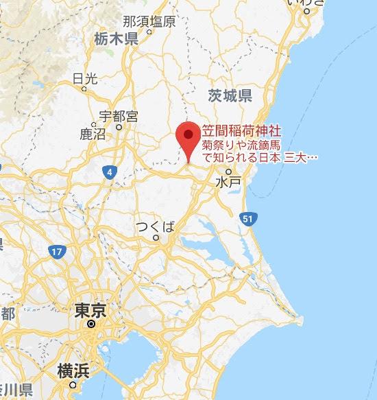 地図:笠間稲荷神社