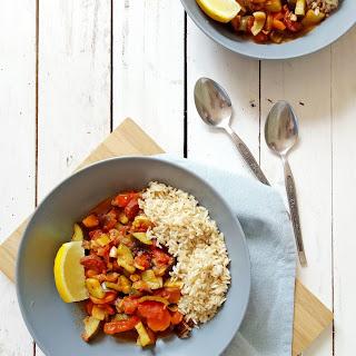 Vegetable and Chorizo Stew.