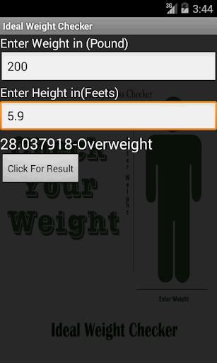 Ideal Weight Checker