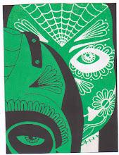 Photo: Wenchkin's Mail Art 366 - Day 216 - Card 216a