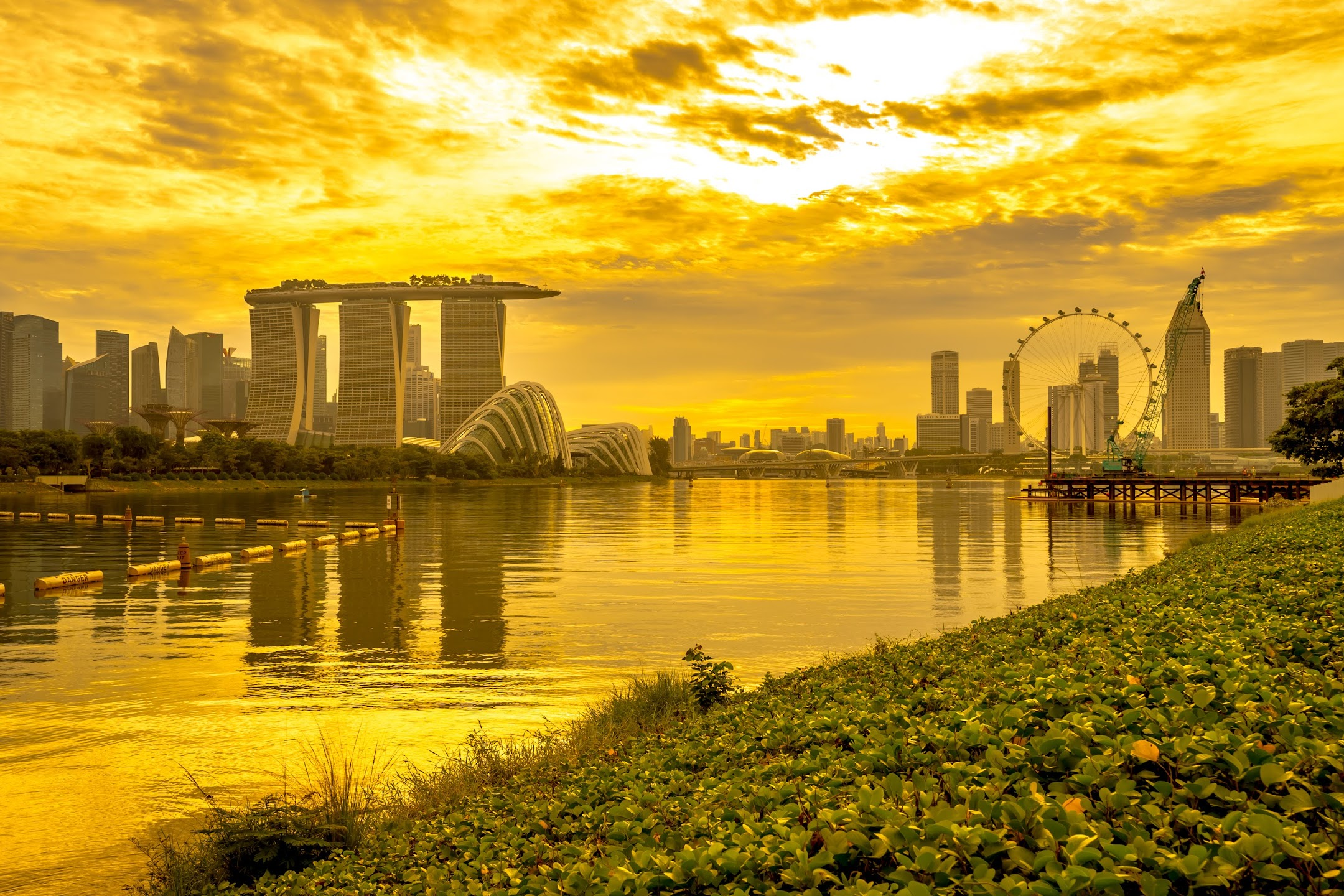 Singapore Marina Barrage evening3