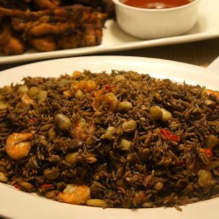 Black Mushroom Rice with Shrimp (Riz Djon-Djon with Shrimp).