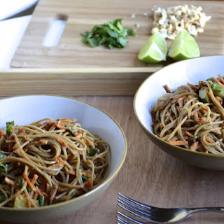 Cold Noodle Salad with Spicy Peanut Lime Sauce.