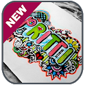 Doodle Art Name Drawing icon